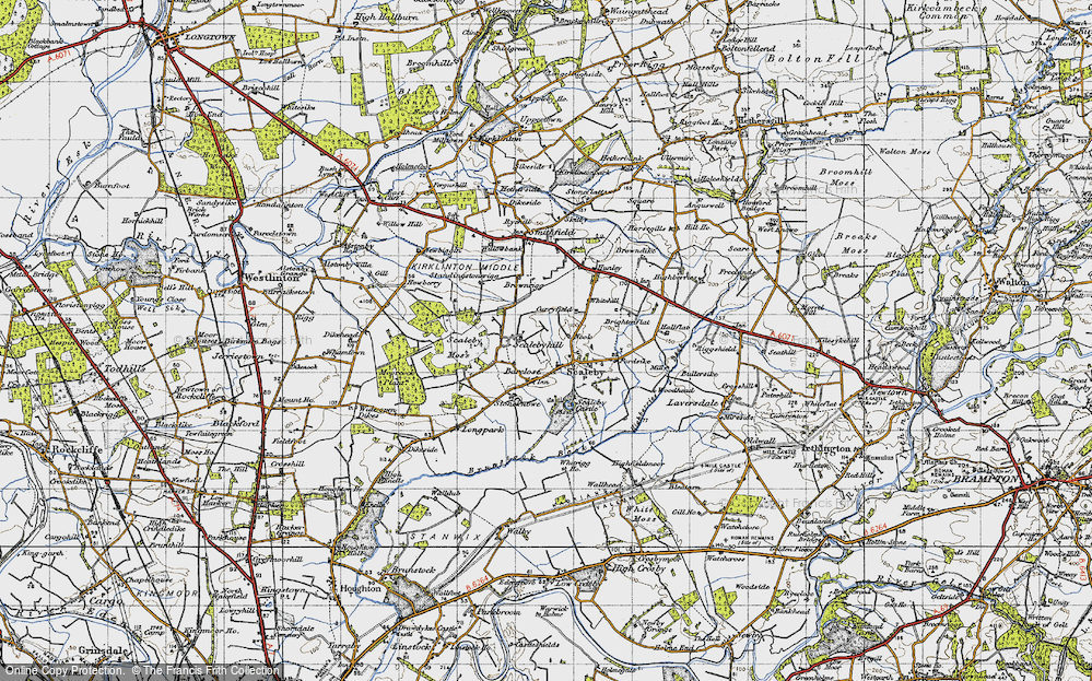 Old Map of Scalebyhill, 1947 in 1947