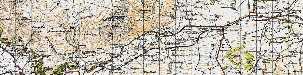 Old map of White Horse Bent in 1947