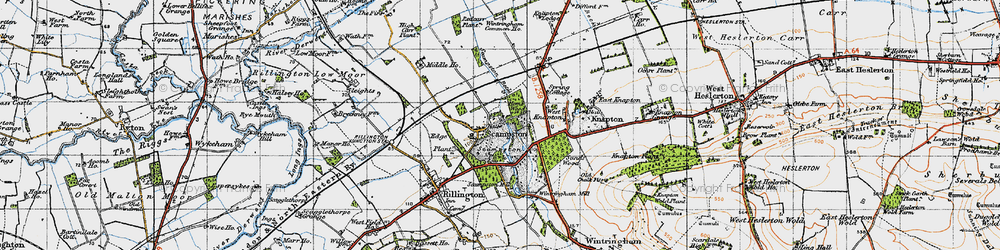 Old map of Scampston in 1947