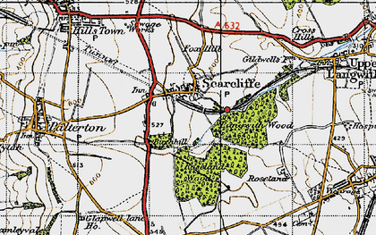 Old map of Langwith Wood in 1947