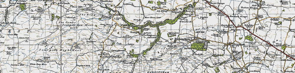 Old map of Thwaite Beck in 1947