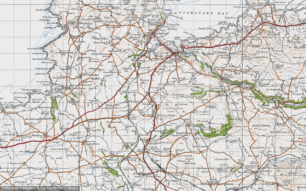 Old Map of Historic Map covering Langton in 1947