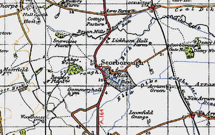 Old map of Lickham Hall in 1947