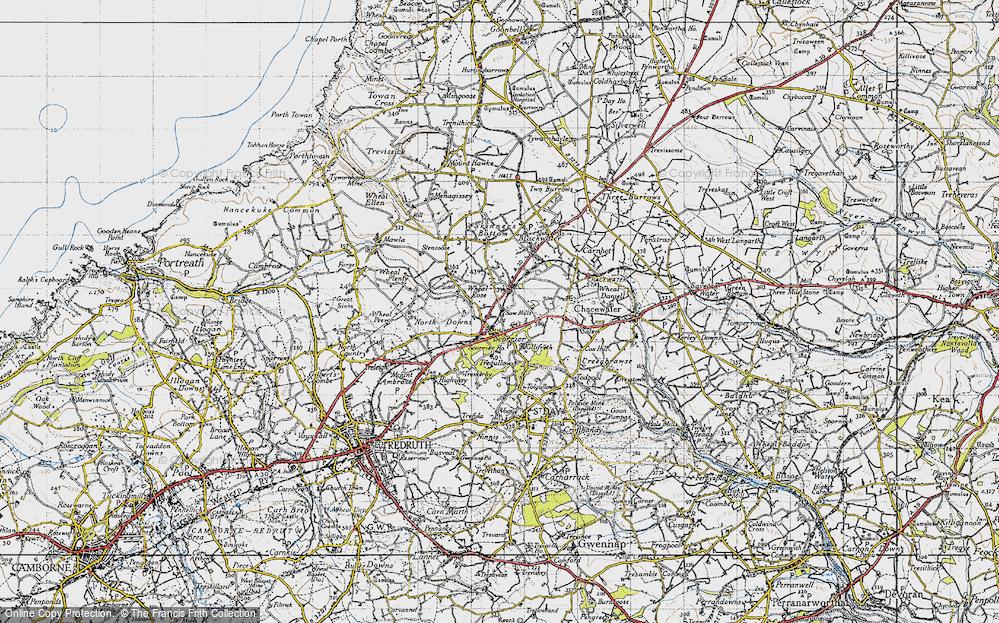 Old Map of Scorrier, 1946 in 1946