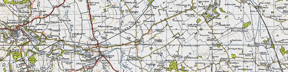 Old map of White Hills in 1947