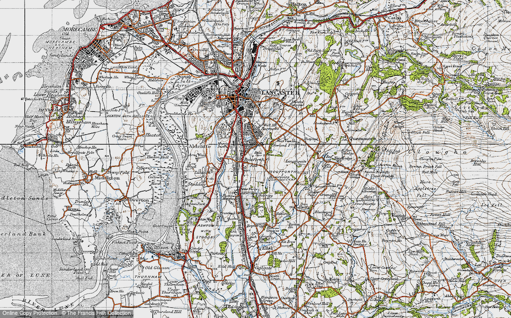 Old Map of Historic Map covering Langthwaite in 1947