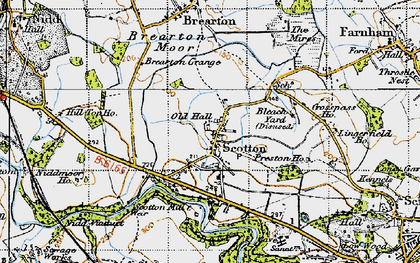 Old map of Lingerfield in 1947