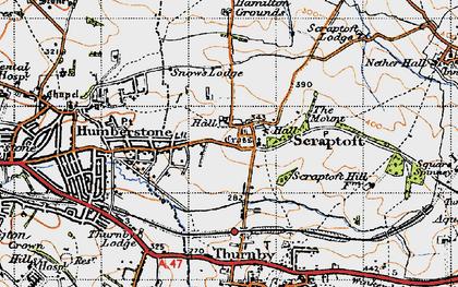 Old map of Scraptoft in 1946