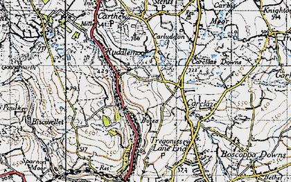 Old map of Scredda in 1946