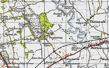 Old map of Scruton in 1947