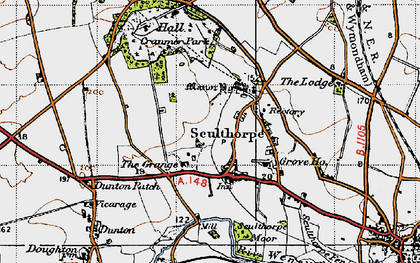 Old map of Sculthorpe in 1946