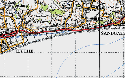 Old map of Seabrook in 1947