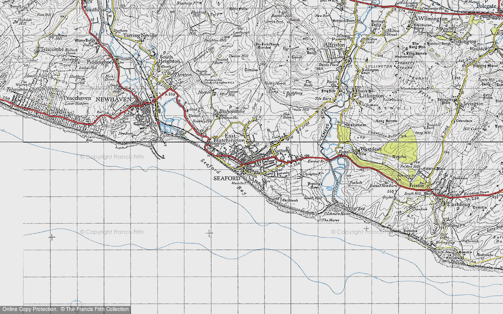Old Map of Seaford, 1940 in 1940