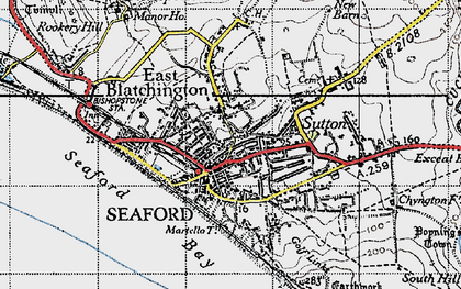 Old map of Seaford in 1940