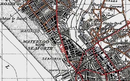 Old map of Seaforth in 1947