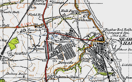 Old map of Seaham in 1947