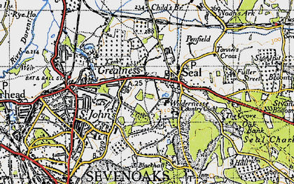 Old map of Seal in 1946