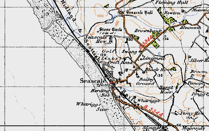 Old map of Whitriggs in 1947