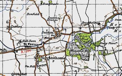 Old map of Seaton in 1947