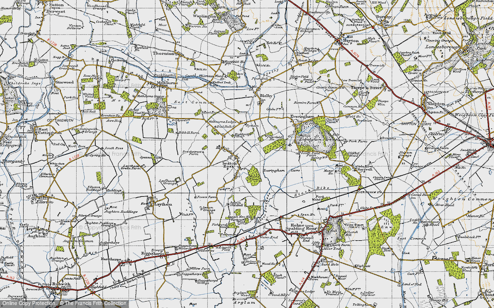 Old Map of Seaton Ross, 1947 in 1947