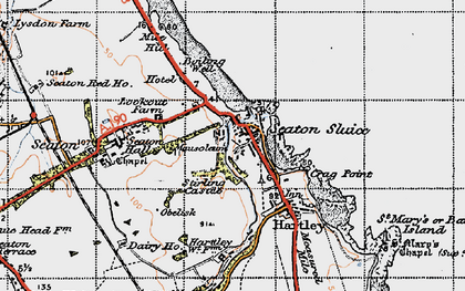 Old map of Seaton Sluice in 1947