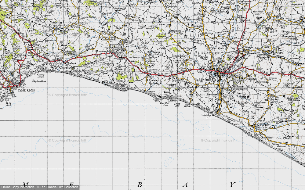 Old Map of Historic Map covering Western Patches in 1945