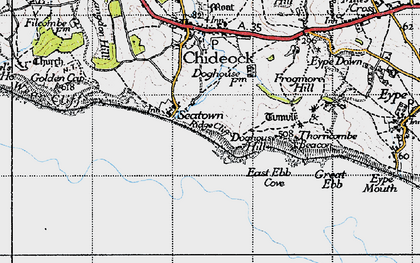 Old map of Western Patches in 1945