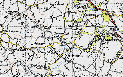 Old map of Seaureaugh Moor in 1946