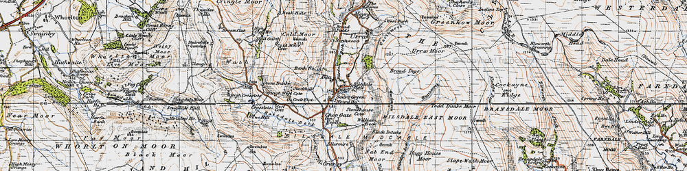 Old map of Whingroves in 1947