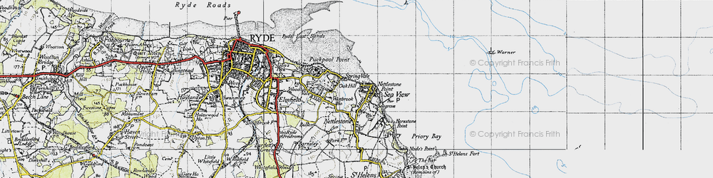 Old map of Seaview in 1945