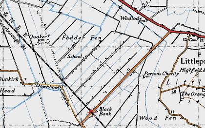 Old map of Westmoor Fen in 1946