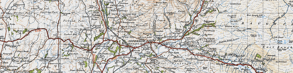Old map of Winder in 1947