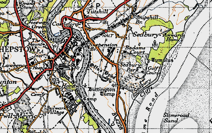 Old map of Badams Court in 1946