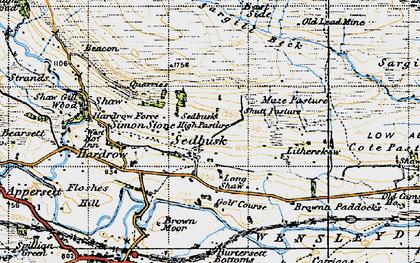 Old map of Sedbusk in 1947
