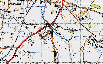 Old map of Sedgeberrow in 1946