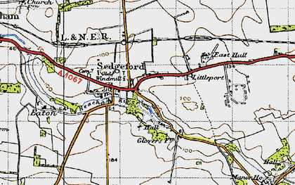 Old map of Sedgeford in 1946