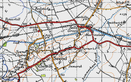 Old map of Seend in 1940