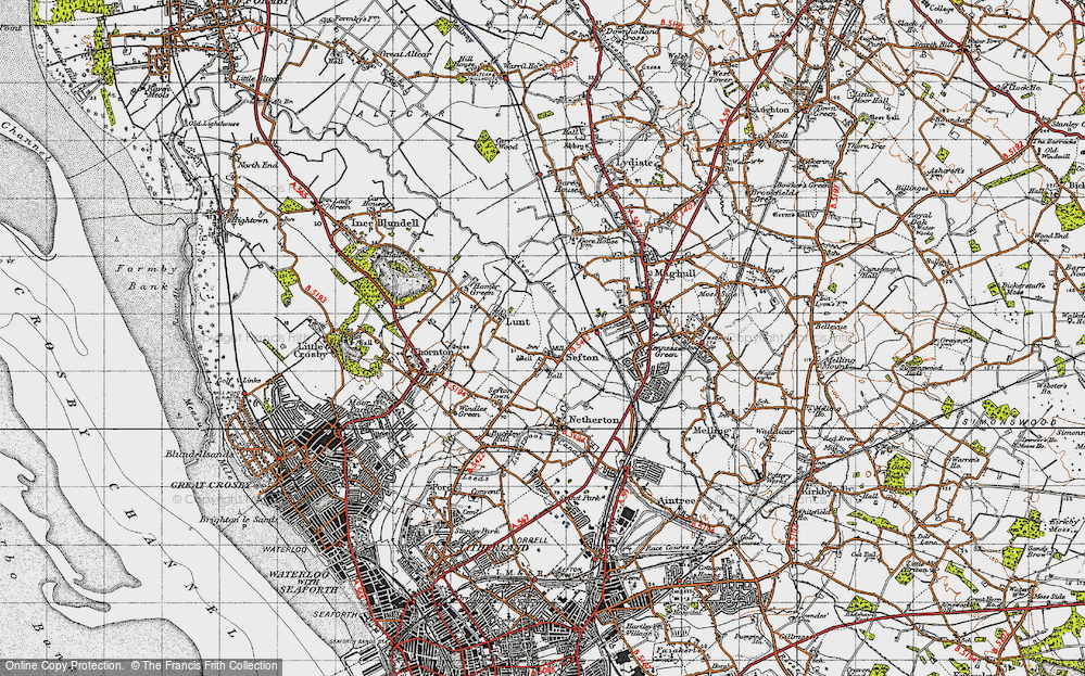 Old Map of Sefton, 1947 in 1947