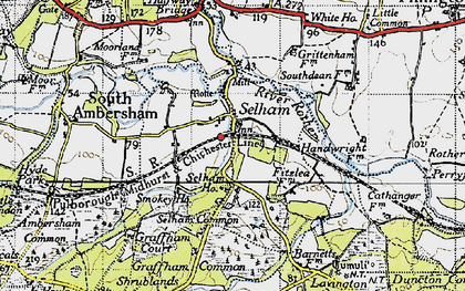 Old map of Selham in 1940