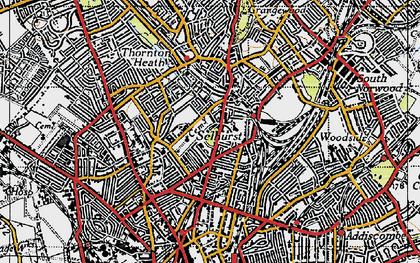 Old map of Selhurst in 1946