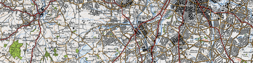 Old map of Selly Oak in 1947