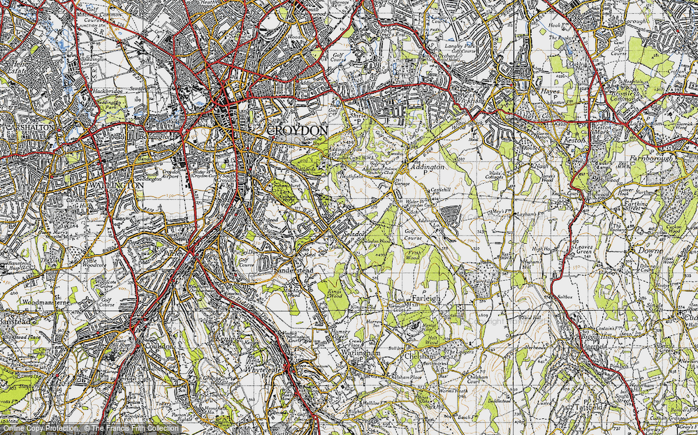 Old Map of Selsdon, 1946 in 1946
