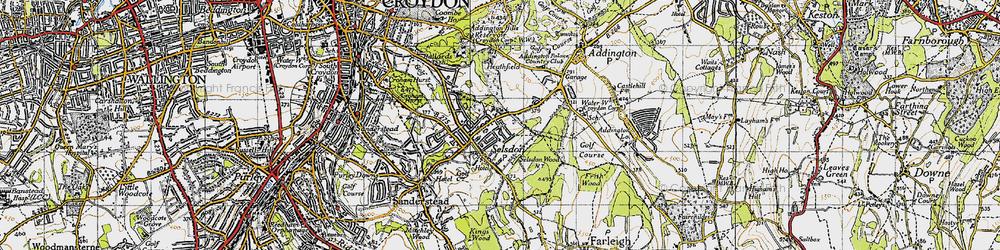 Old map of Selsdon in 1946