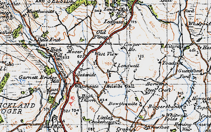 Old map of Leagate in 1947