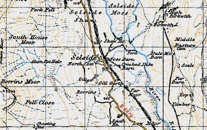 Old map of Alum Pot in 1947