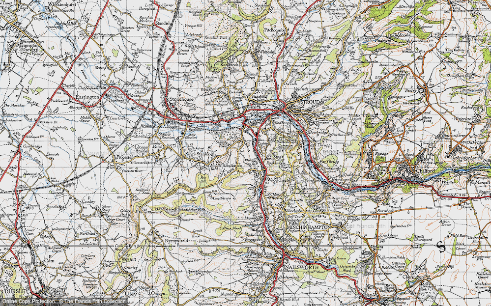 Old Map of Selsley, 1946 in 1946
