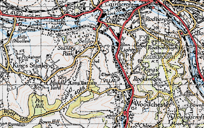 Old map of Selsley in 1946