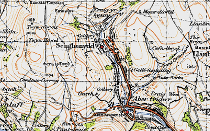 Old map of Senghenydd in 1947