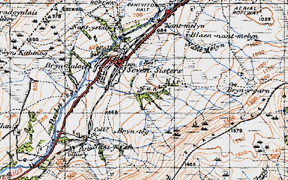 Old map of Seven Sisters in 1947