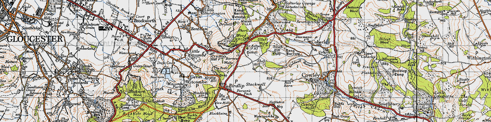 Old map of Air Balloon (PH) in 1946